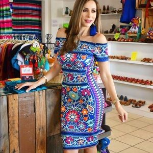 Mexican Fiesta Dress Stretchable Sexy Flattering